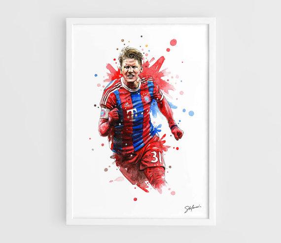 Bastian Schweinsteiger FC Bayern München die Original   Poster