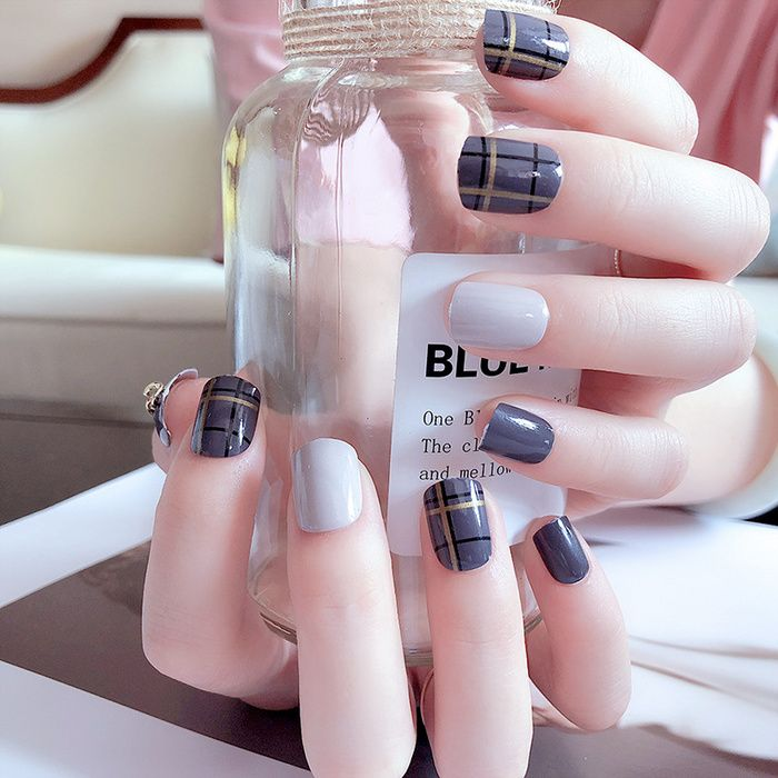 Artificial Nails Nail Products 24 Boxed Gray Style Skip ...