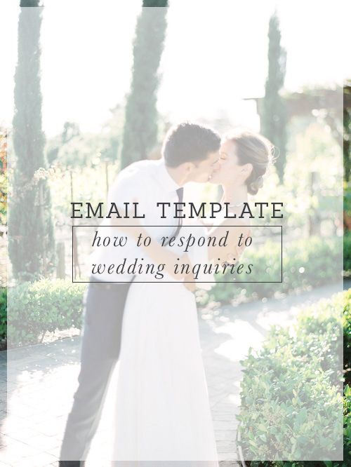 Wedding Inquiry Email Template - inquiry template