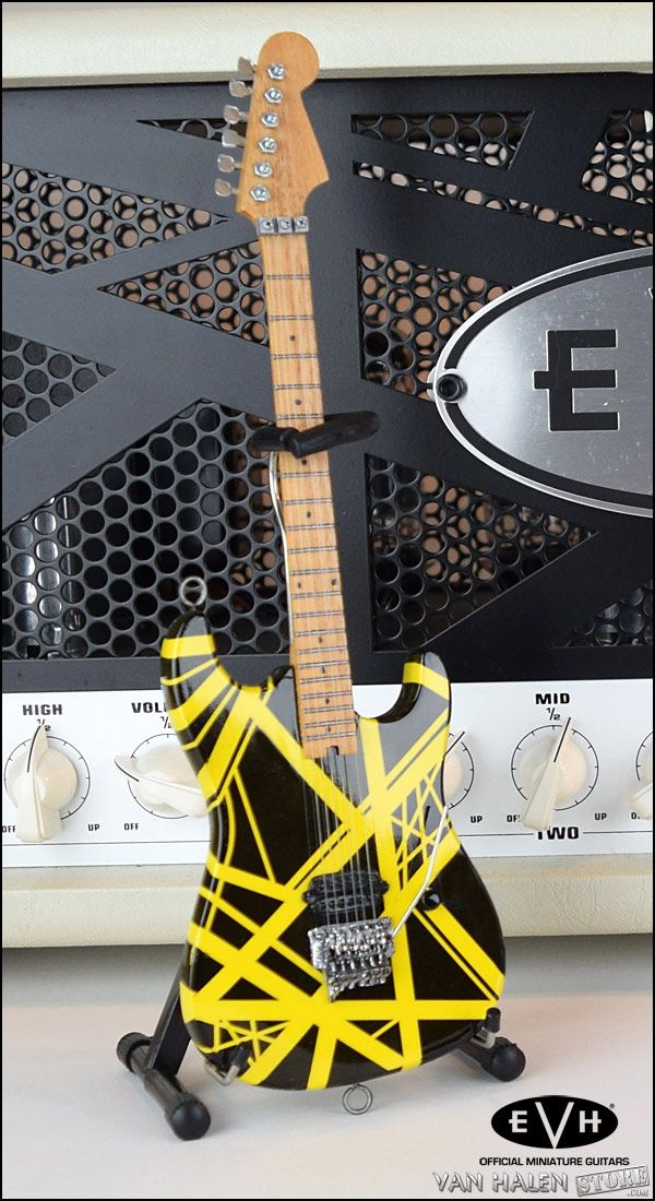 1f6b42a91c653e Check out the deal on EVH Black and Yellow Mini Guitar at Van Halen Store