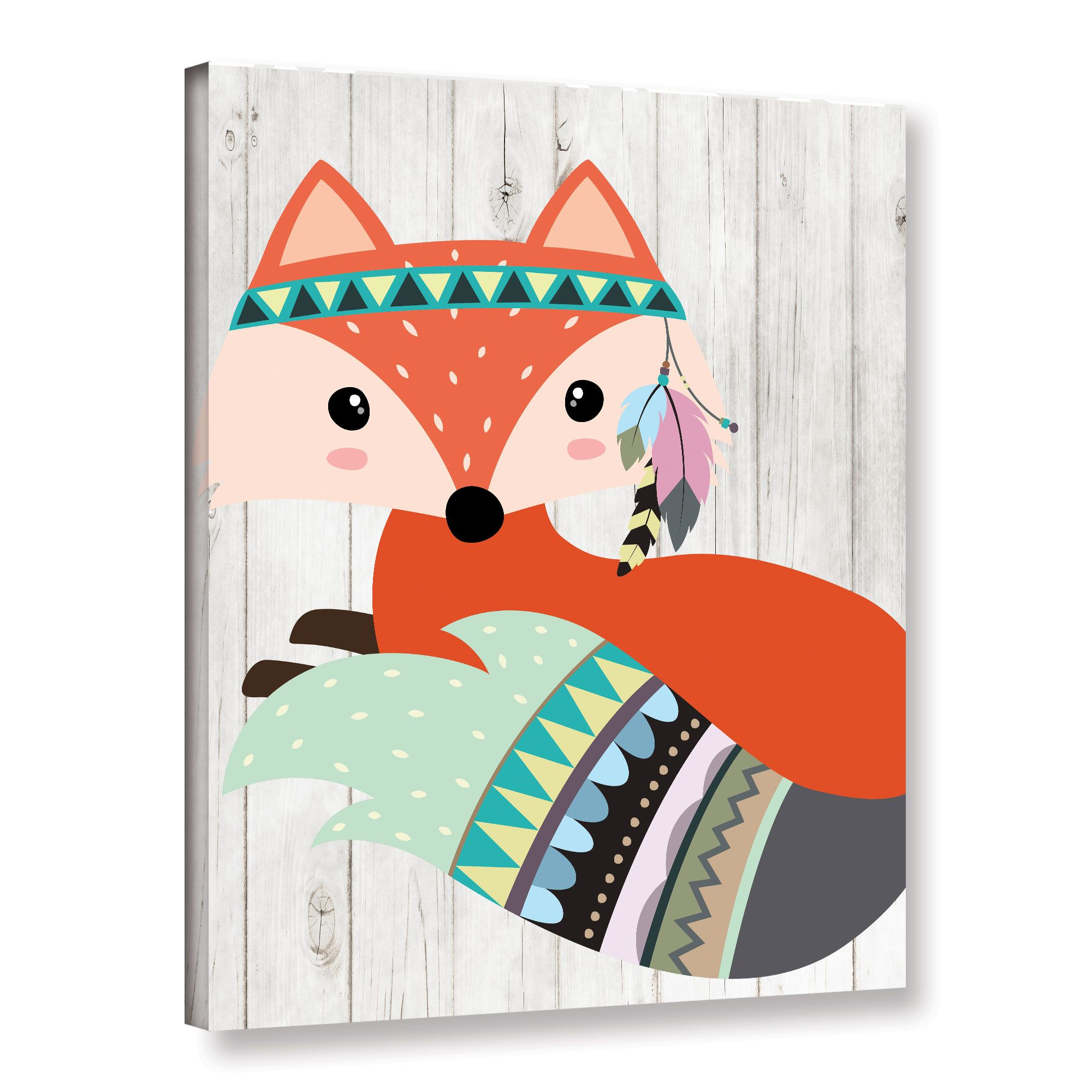 Aida Tribal Fox Ii Canvas Art Tribal Fox Fox Decal Removable Wall Decals