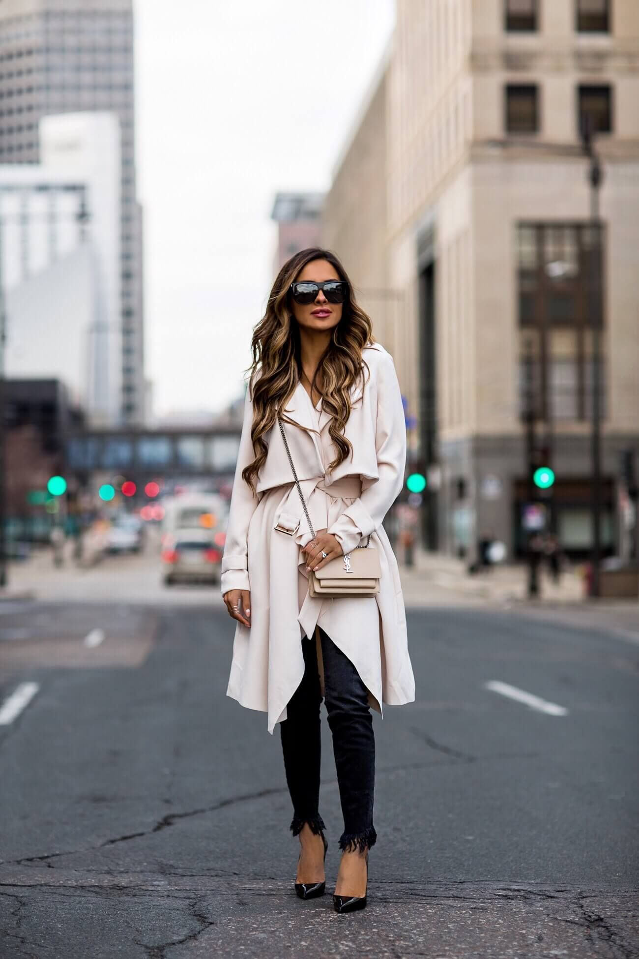 65a390ff058c fashion blogger mia mia mine wearing an ivory trench coat from nordstrom  and black christian louboutin heels