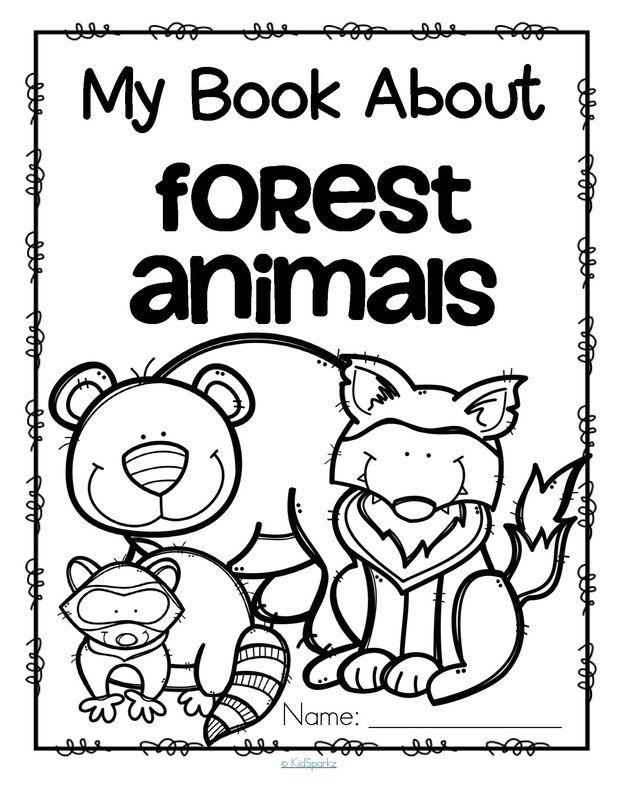 Forest Animals preschool activities Numbered animal
