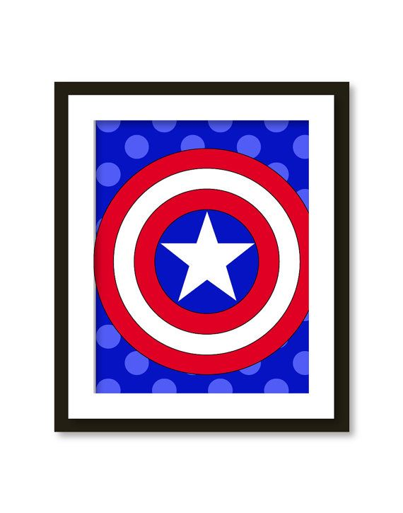 Super hero art kids wall art boys room decor by ...