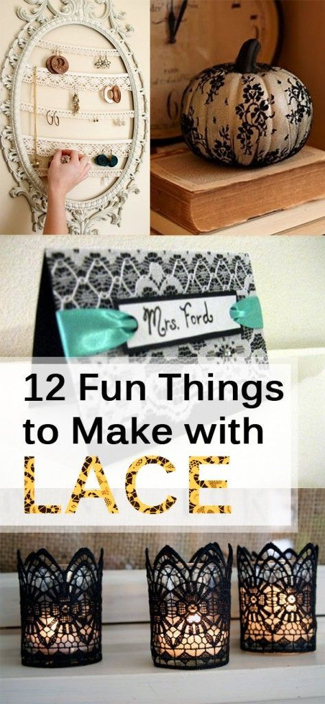 12 Fun Things to Make with Lace