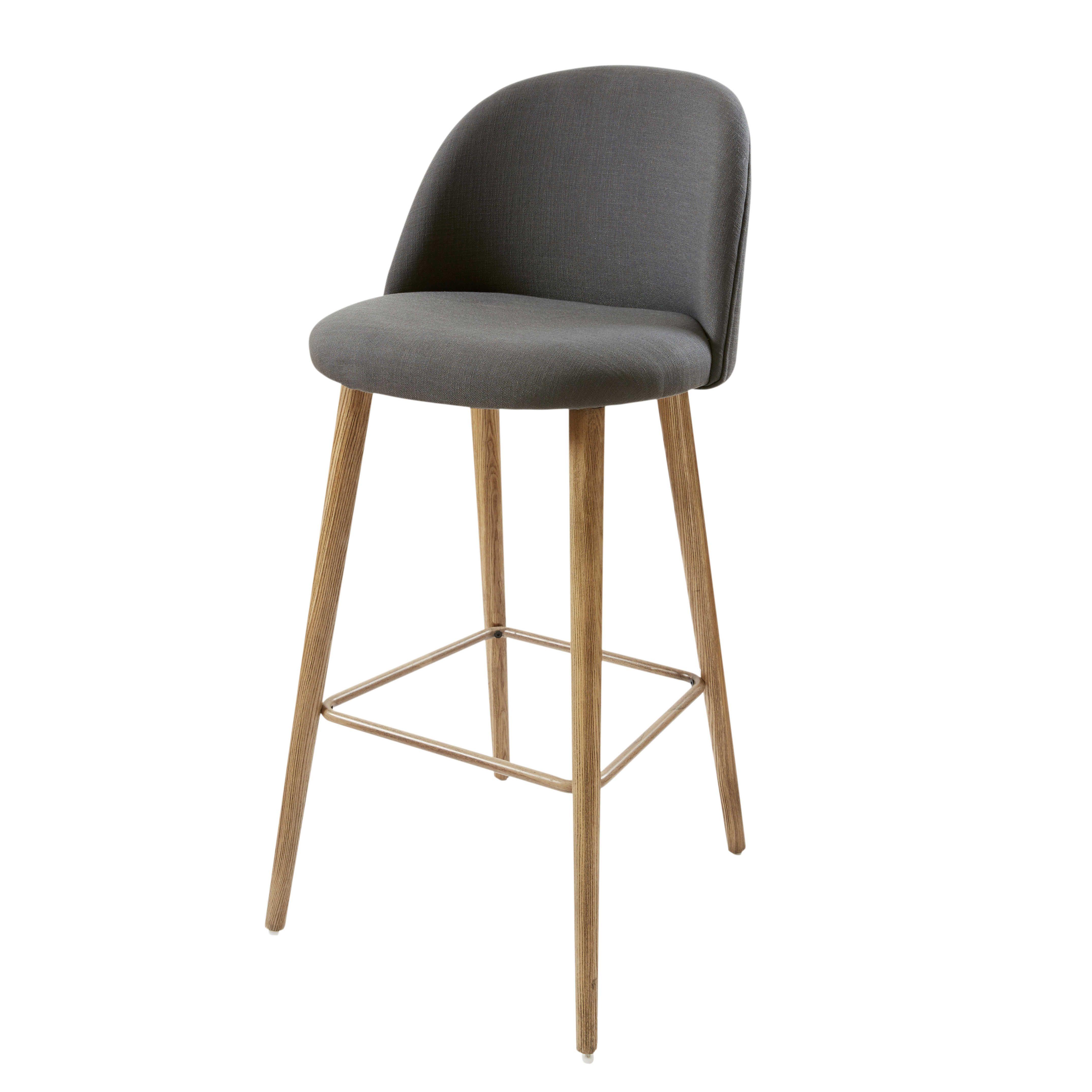 Anthracite Grey And Ash Vintage Bar Chair. Kitchen Island StoolsKitchen  ChairsKitchen ...