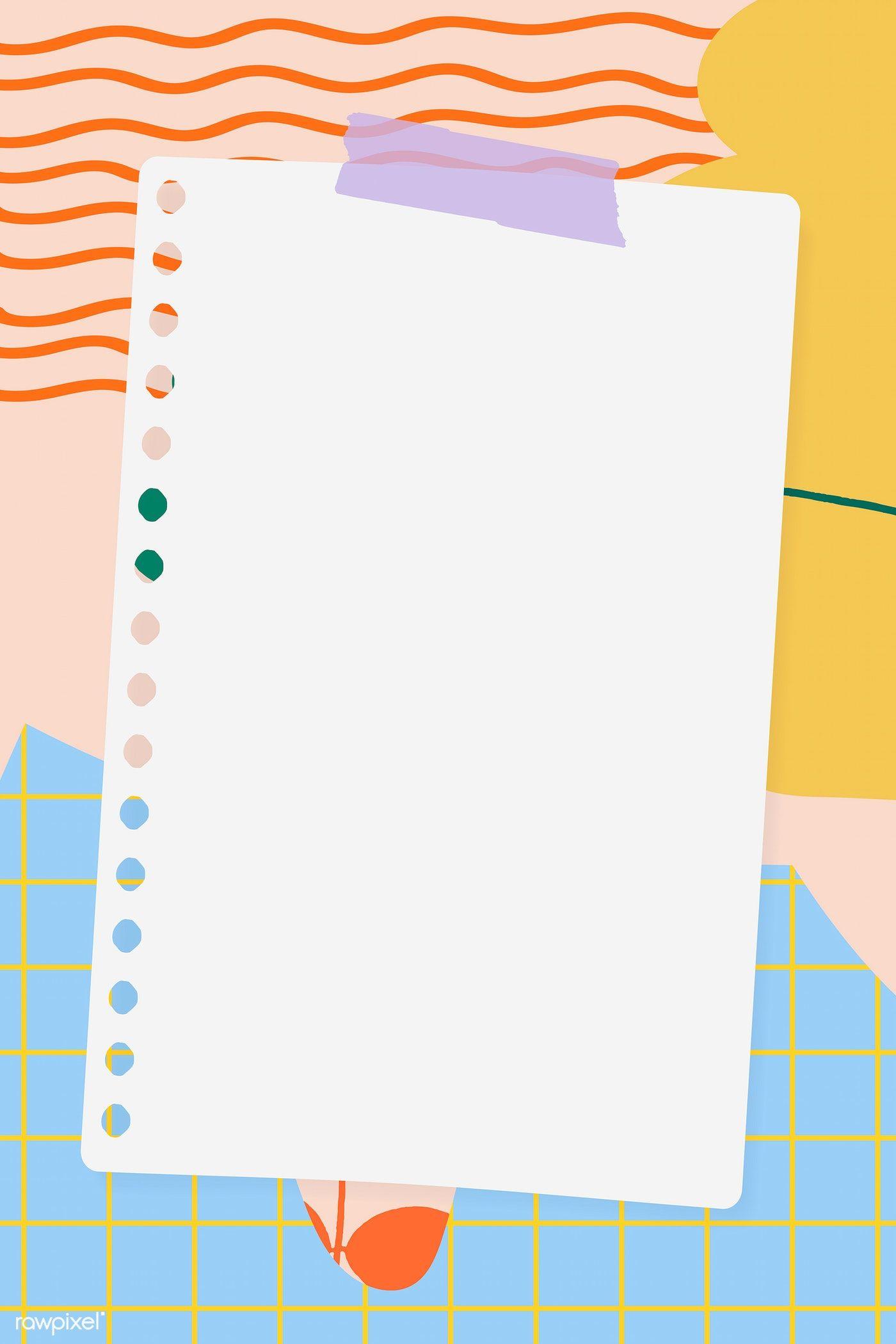 Notepaper On A Pastel Background Vector Premium Image By Rawpixel Com Marinemynt Desain Pamflet Desain Banner Kartu