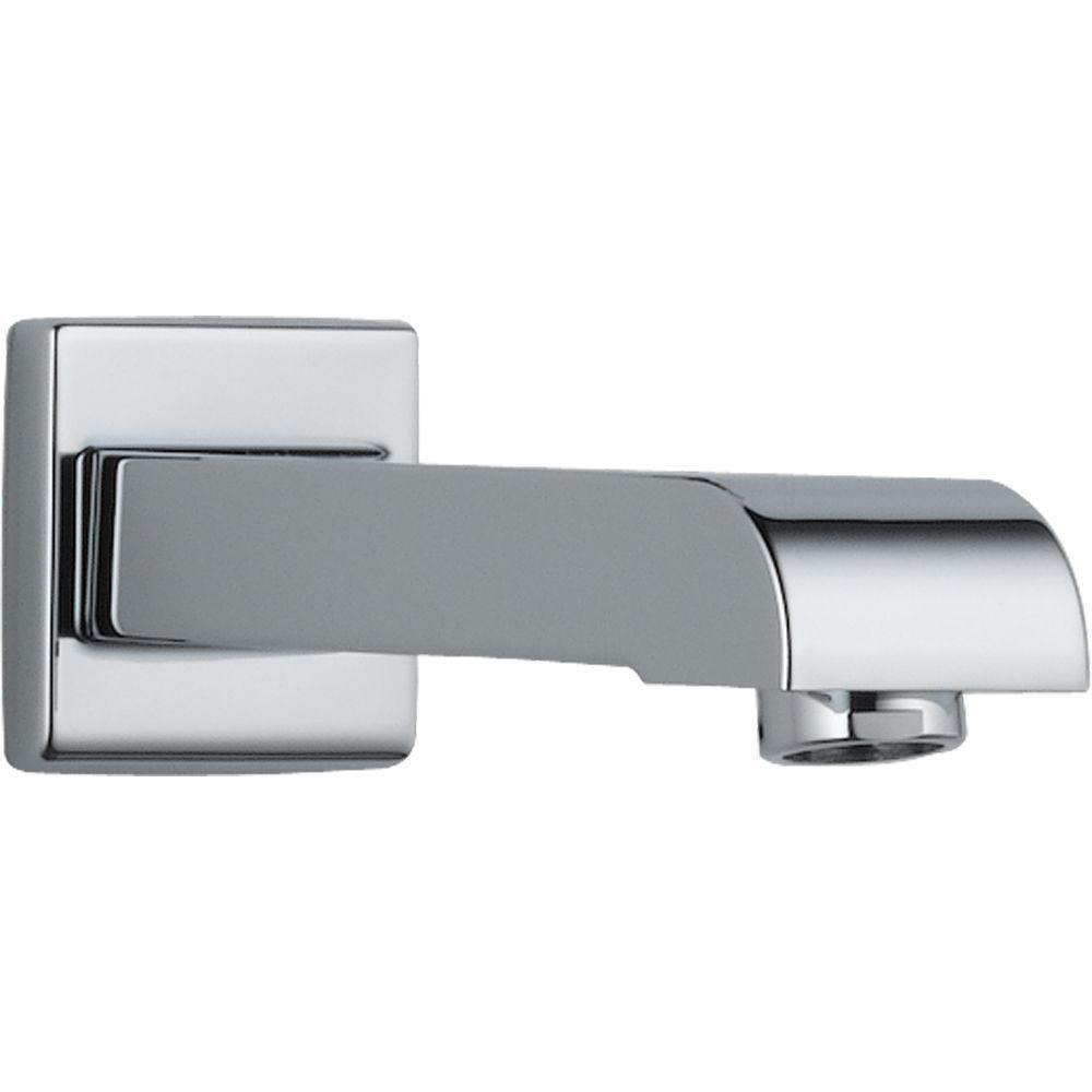 Delta Arzo and Vero 7 in. Metal Non-Diverter Tub Spout in Chrome ...