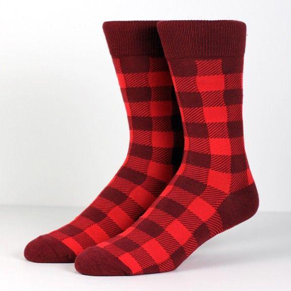 Bread Winner Socks. Red. Richer Poorer.