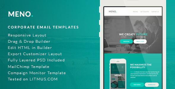 Corporate Email Template Meno Builder Access We At Theemon - Build an html email template from scratch