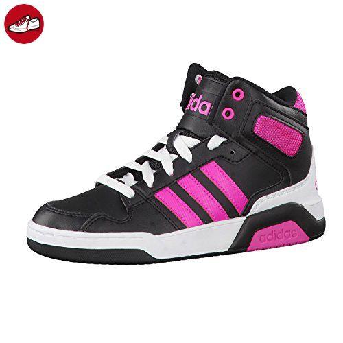 designer fashion a9952 ef99f adidas NEO Kinder Sneaker BB9TIS MID K core blackshock pink s16ftwr white