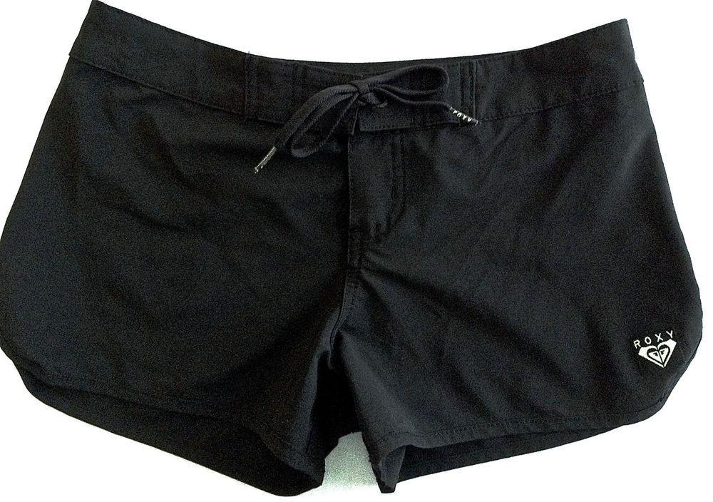 29669d51bf ROXY Quiksilver Black Board Shorts Swimwear Surfing Womens Size 0 #Roxy # BoardShorts