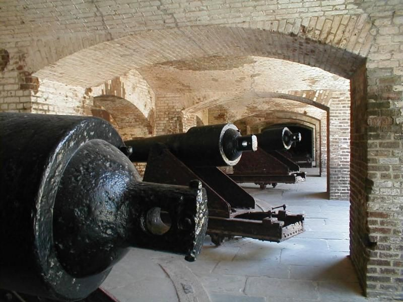 100 pounder Parrott Rifles at Fort Sumter, South Carolina.