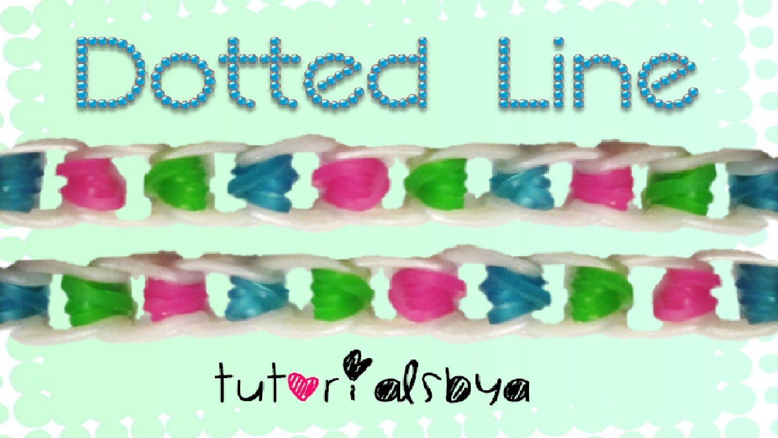 NEW Dotted Line Rainbow Loom Bracelet Tutorial