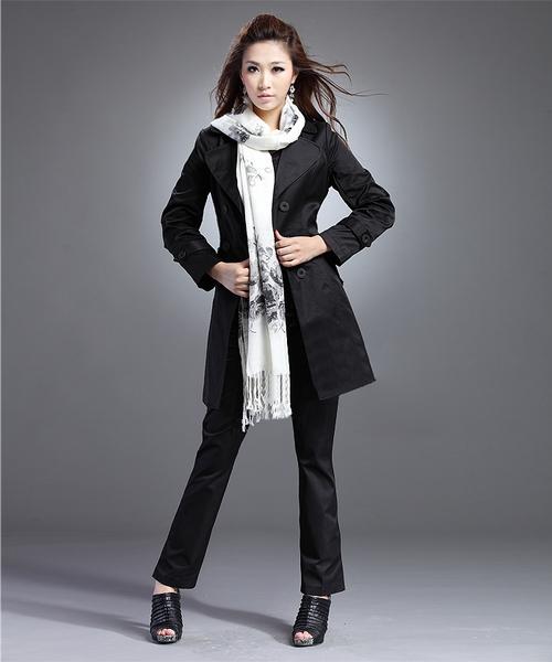 Women : Windbreaker Trench Coat YRB0357 yrb,  black trench,  sale trench coats