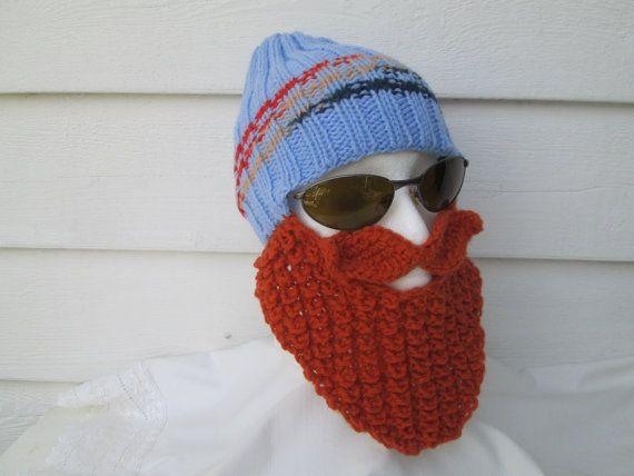 40efe1d8 Teen long beard hat beard hats Bearded Beanie by Ritaknitsall | Knit ...