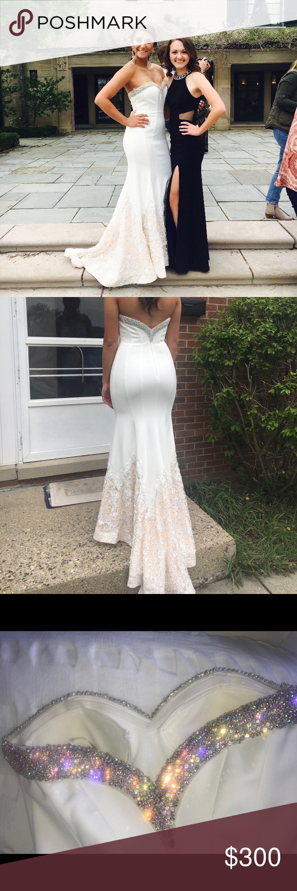 Beautiful white prom dress in my posh picks pinterest