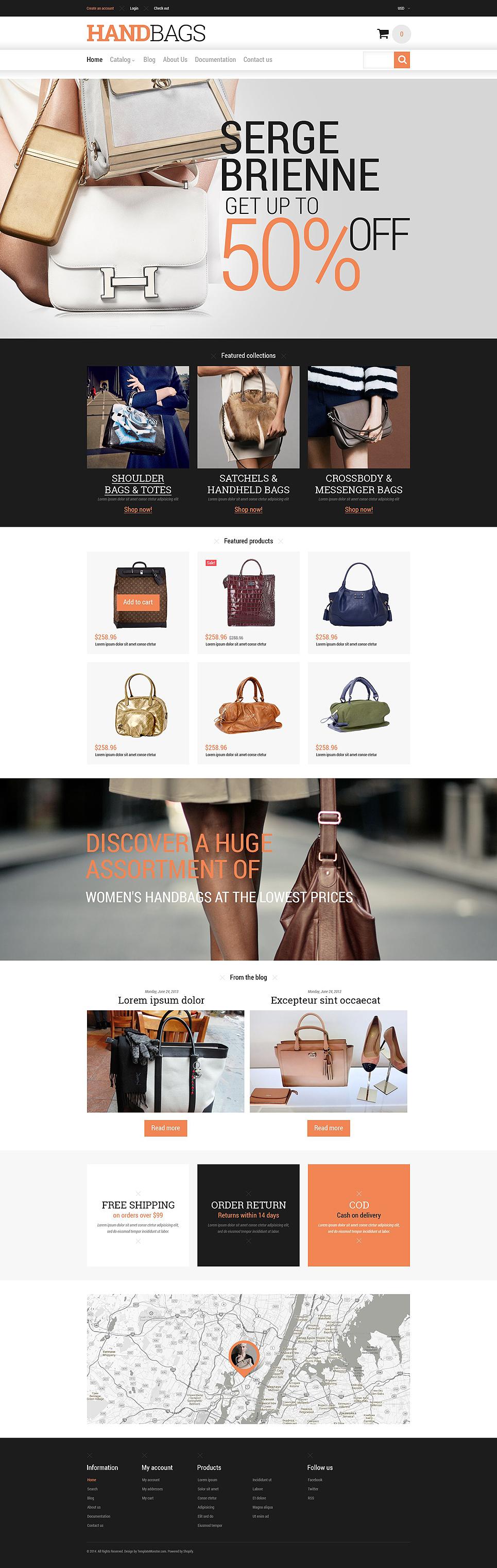 Branded handbags shopify theme 52332 branded handbags
