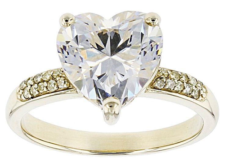 White Fabulite Strontium Titanate 10k Yellow Gold Ring 4 35ctw Kdk034 Three Stone Engagement Rings Gold Rings Sterling Silver Rings