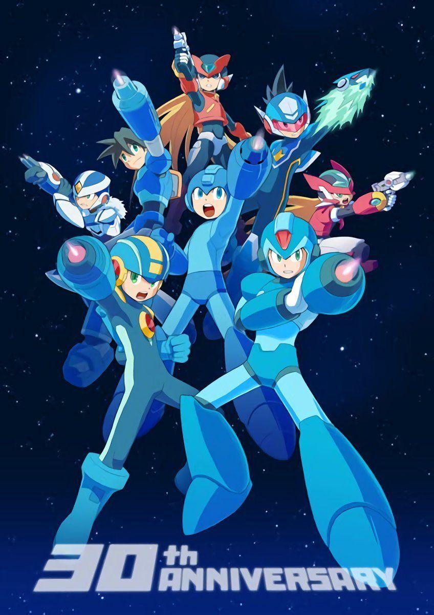 Mega Man 30th Anniversary Samanico On Tumblr Mega Man Art Mega Man Character Design
