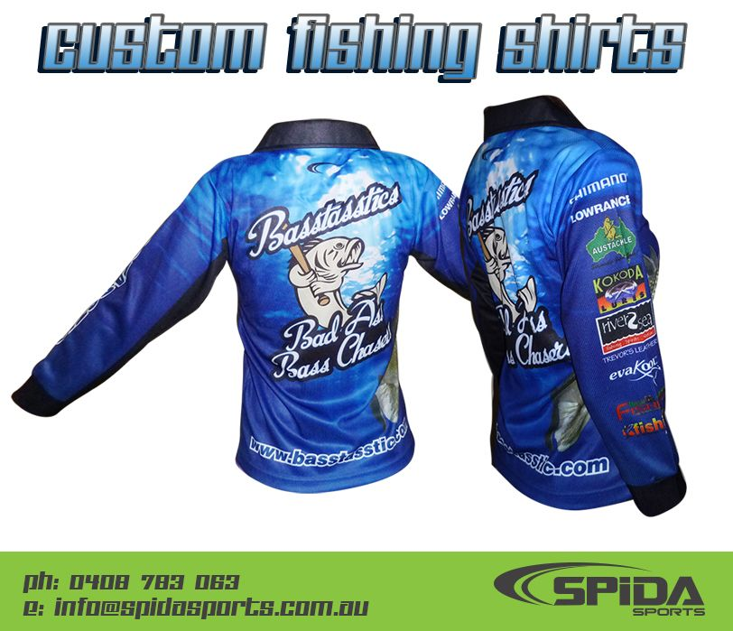 Sublimated fishing shirts create your own design http for Create your own fish