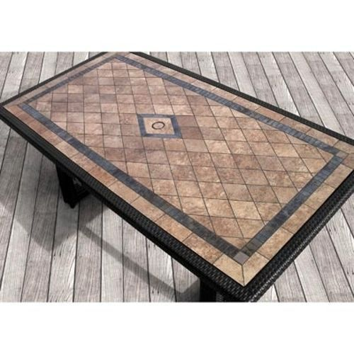 Niko 7 Piece Patio Dining Set By Sirio In 2019 Tile Top