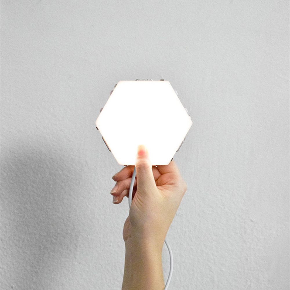 15pcs Led Modular Touch Sensitive Lighting Hexagonal Wall Lamps Light Panels Motion Lights Creative Decor