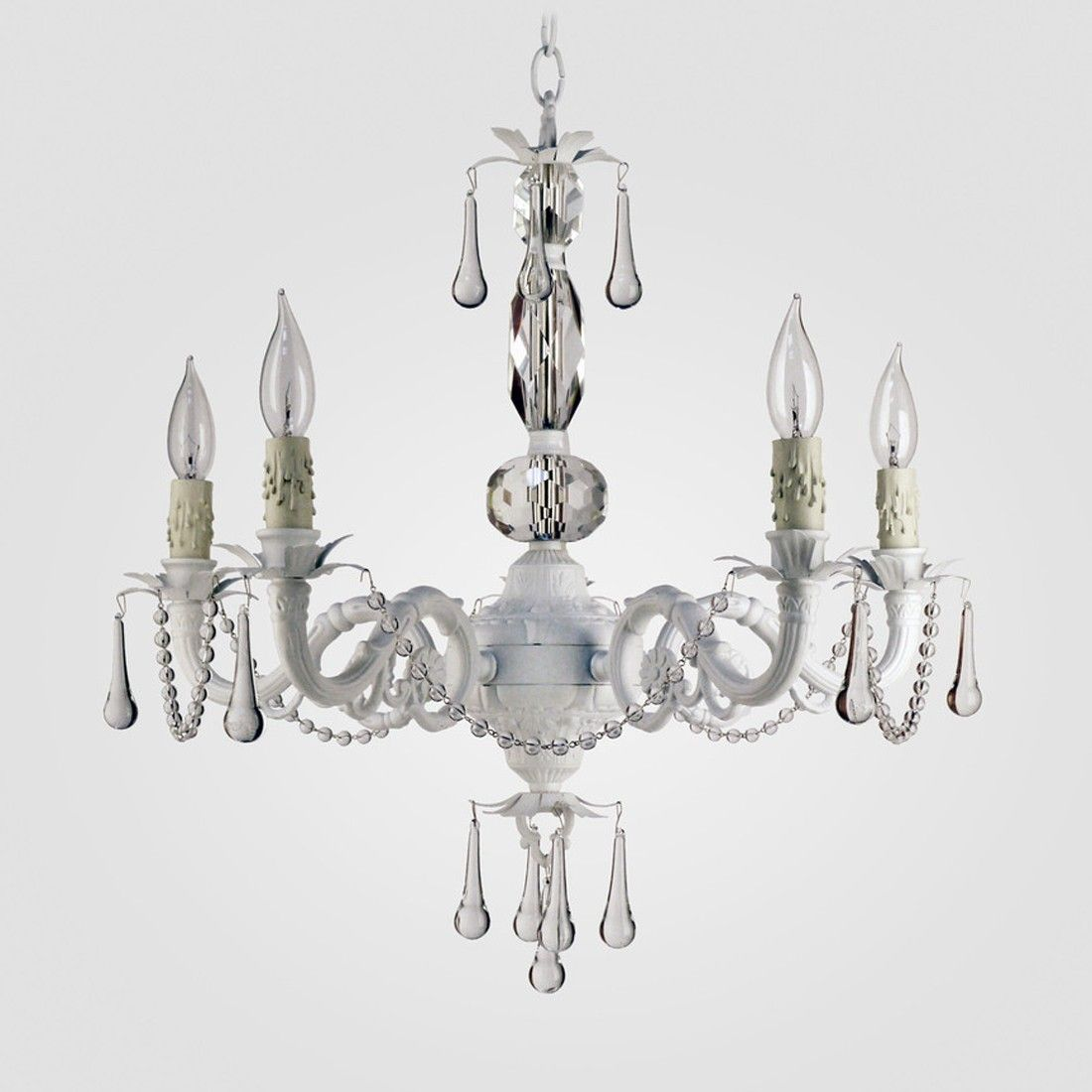 Maura Daniel Faith Gloss Pink With Clear Crystals In 5 Lights Exudes Chandelier Wiring Black White Modern Day Elegance