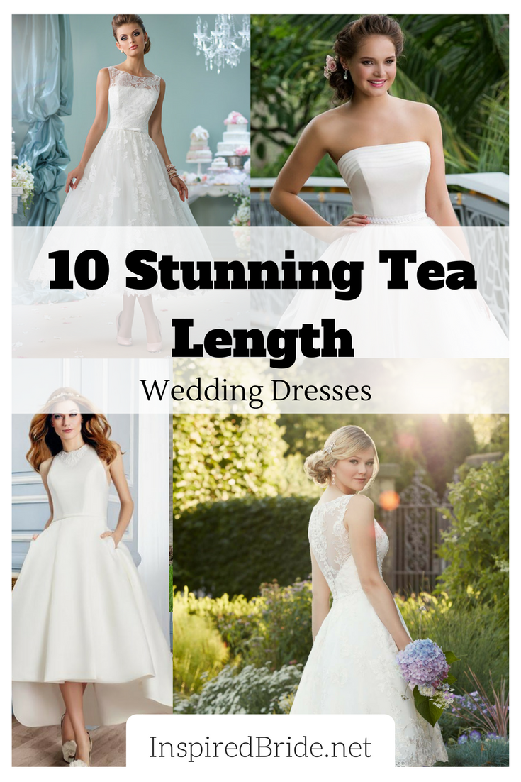 stunning tea length wedding dresses for tea length wedding