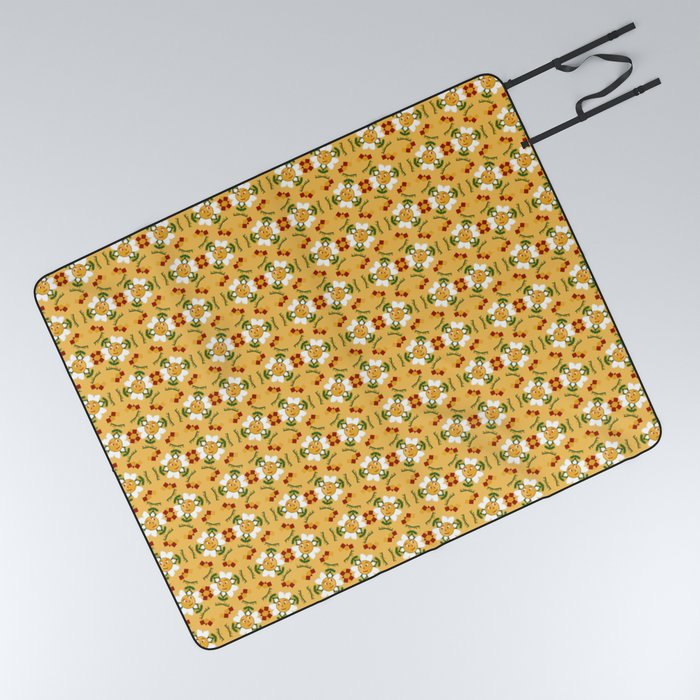 Buy Pixel Flower Pattern Picnic Blanket By Wagnerps Worldwide Shipping Available At Society6 Com Just One Of Millions Of Picnic Blanket Flower Patterns Pixel