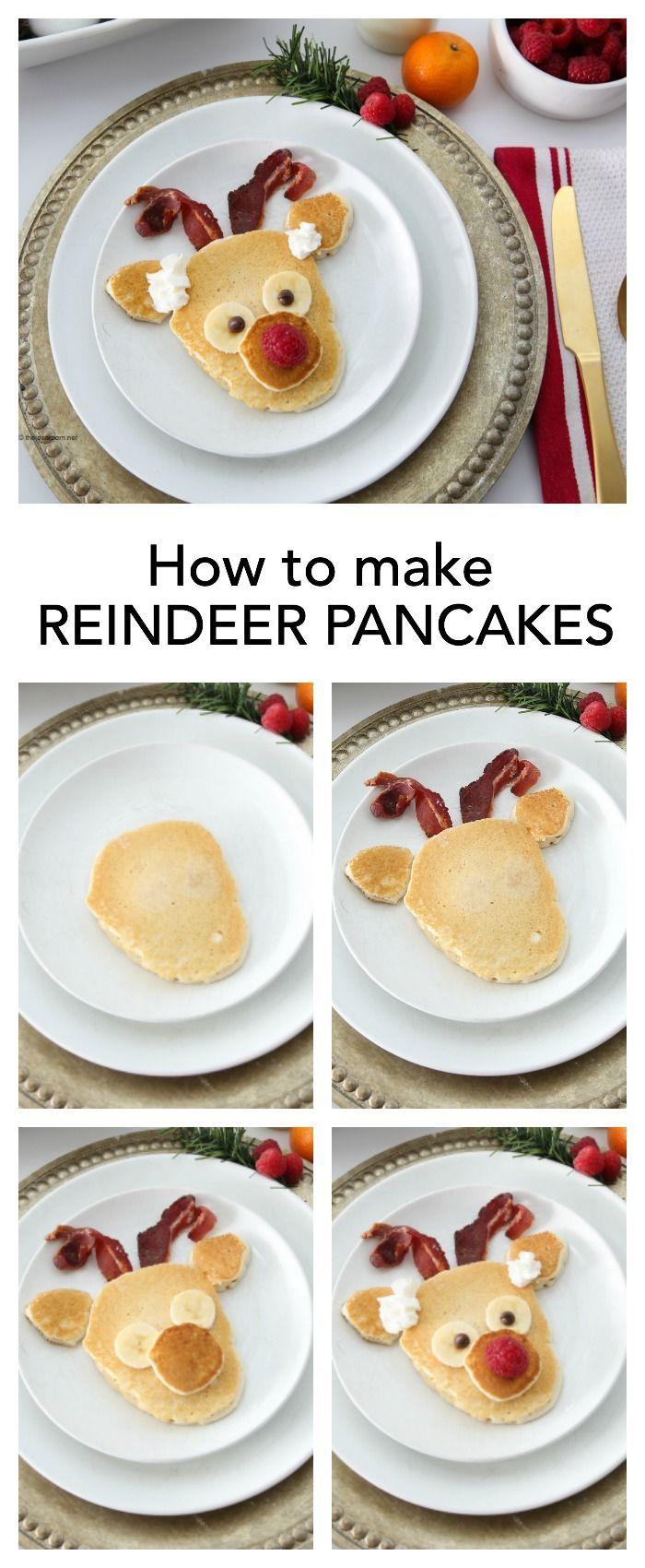 Rudolph Reindeer Pancakes: Christmas Breakfast | Pinterest ...