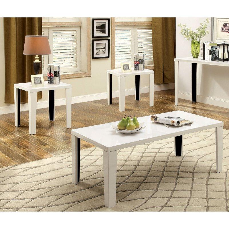 Furniture Of America Britton 3 Piece Coffee Table Set 3 Piece