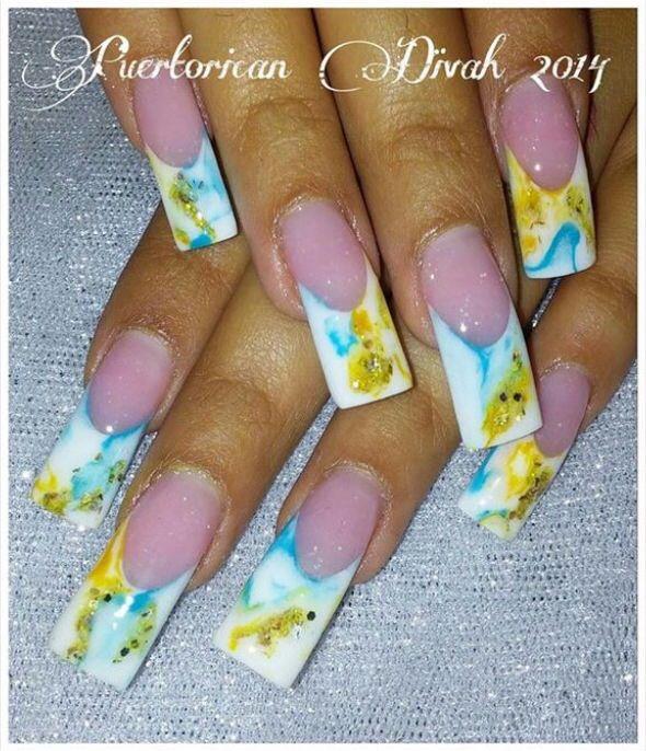 Acrylic nails by Puerto Rican Divah | Nail art designs ...