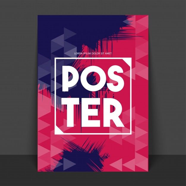 Abstract Poster Banner Or Flyer Posters Pinterest Poster