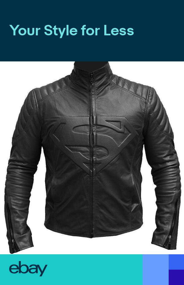 Superman Man of Steel Shield Motorcycle Black Genuine