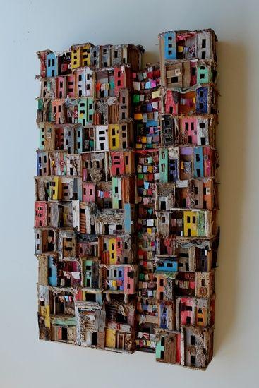 Épinglé par martine cresp sur Maison Pinterest Toile peinture - Dessiner Maison En 3d