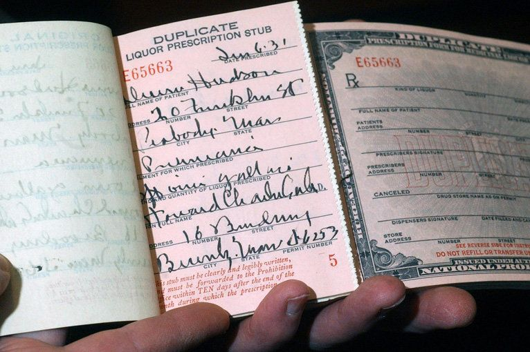 A doctor's prescription pad was used to allow for dispensing bourbon whiskey to treat maladies ranging from the sniffles to cancer before the end of Prohibition.
