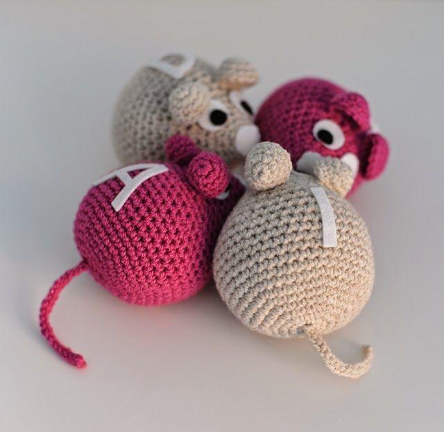 Patrón de ratón gratis - Crochet - Free mouse pattern | Amigurumi y ...