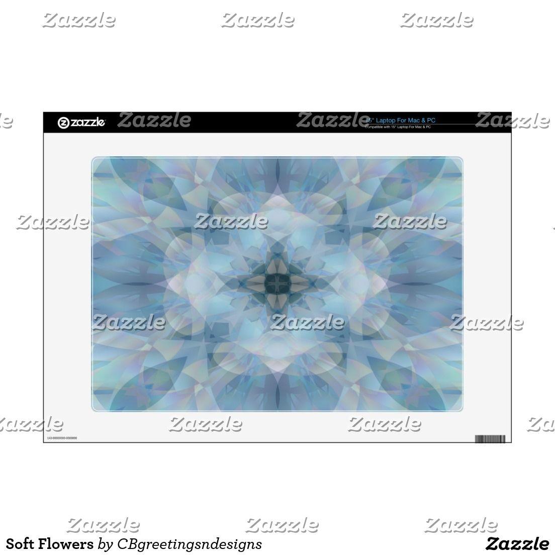 "Soft Flowers 15"" Laptop Skin"