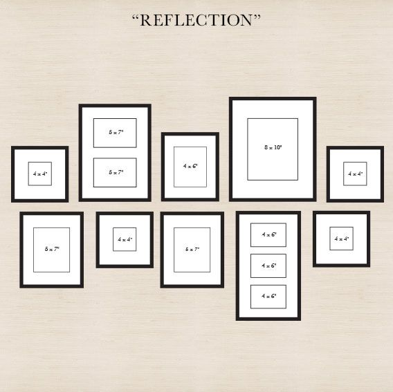 Reflection Scatter Various Sized Frames In An Arrangement But Ensure To Align The Bottoms And Tops Gallery Wall Layout Perfect Gallery Wall Photo Wall Gallery