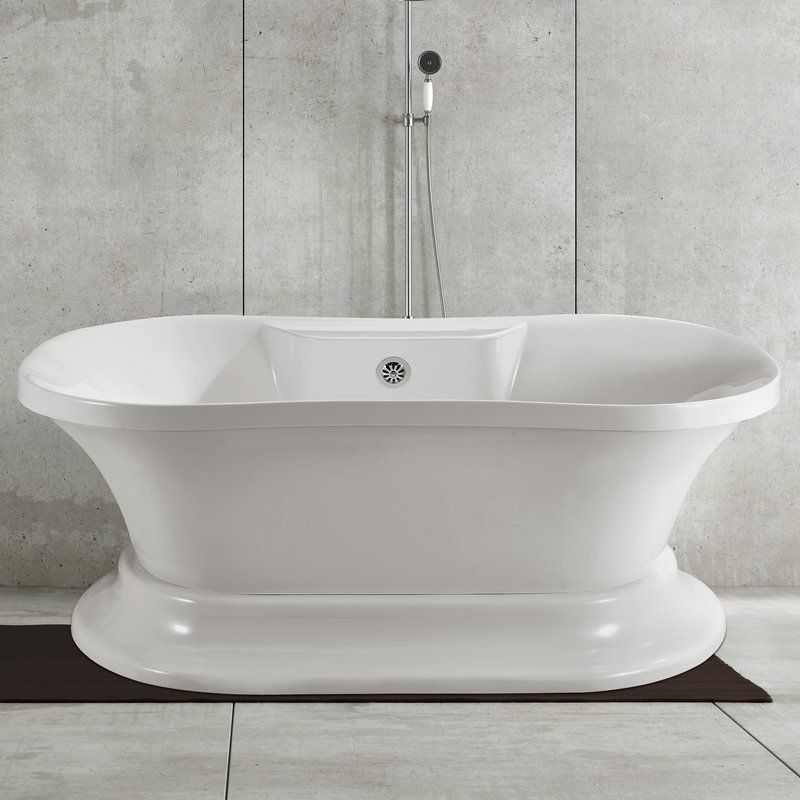 60 X 32 Pedestal Soaking Bathtub In 2020 Soaking Bathtubs Bathtub Deep Soaking Bathtub