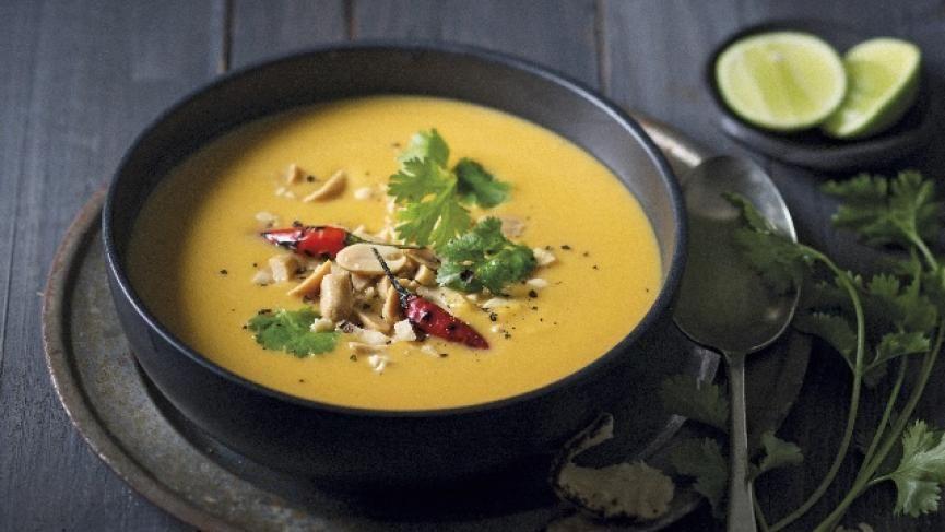 Süßkartoffel-Erdnuss Suppe