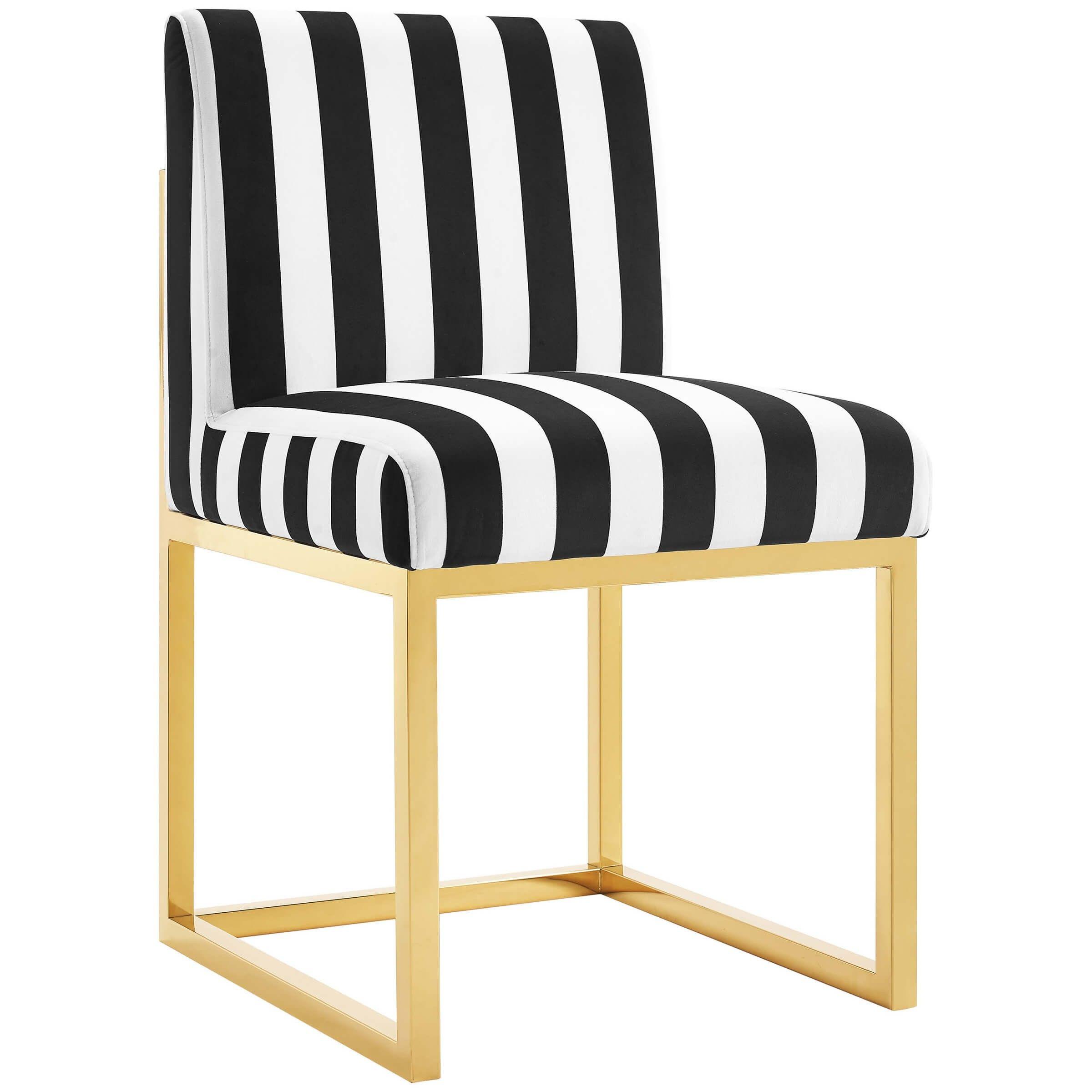 Haute chair paris velvet chair striped chair velvet