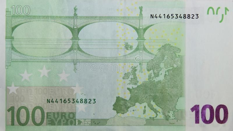 100 Euros One Banknote 100 Euros European Paper Money