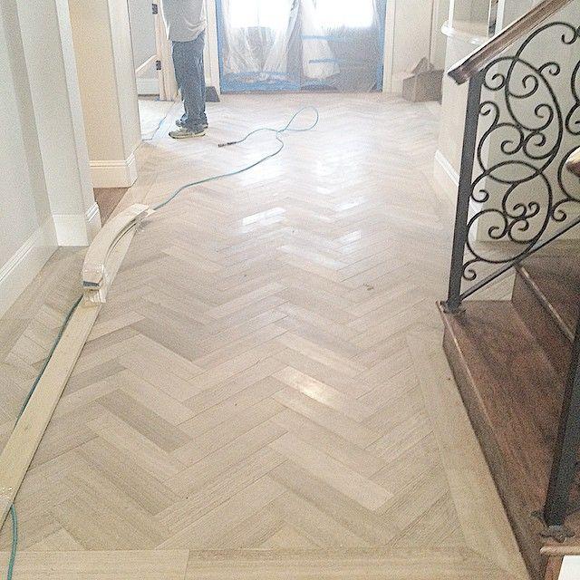 Instagram Photo By Dana Fort Design Aug 4 2015 At 3 16am Utc Herringbone Tile Floors Entryway Flooring Travertine Floor Tile