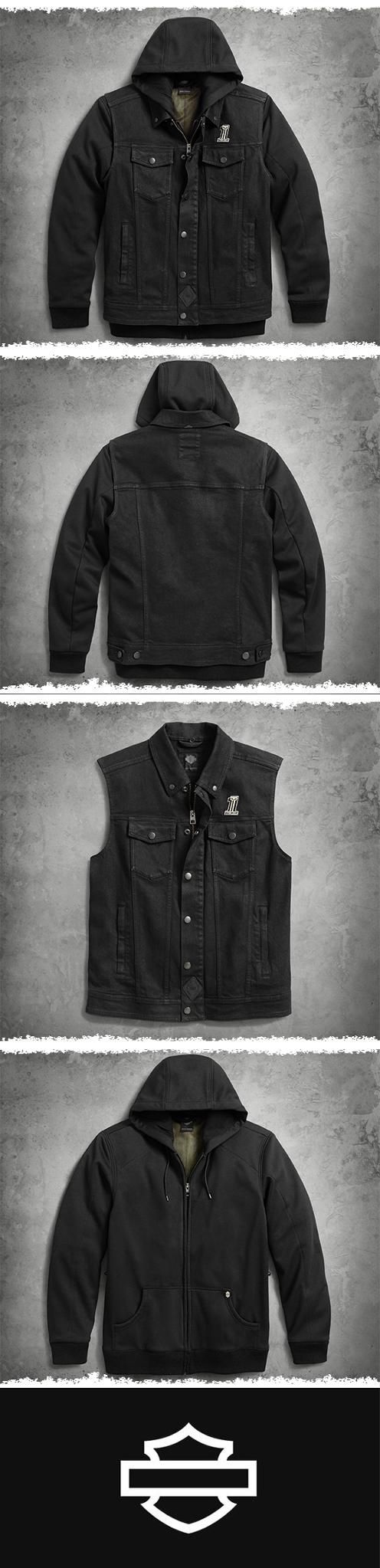 3 in 1 denim slim fit riding vest harley davidson and biker gear no problem the 3 in 1 vest is on standby harley davidson motorcyclesharley sciox Image collections