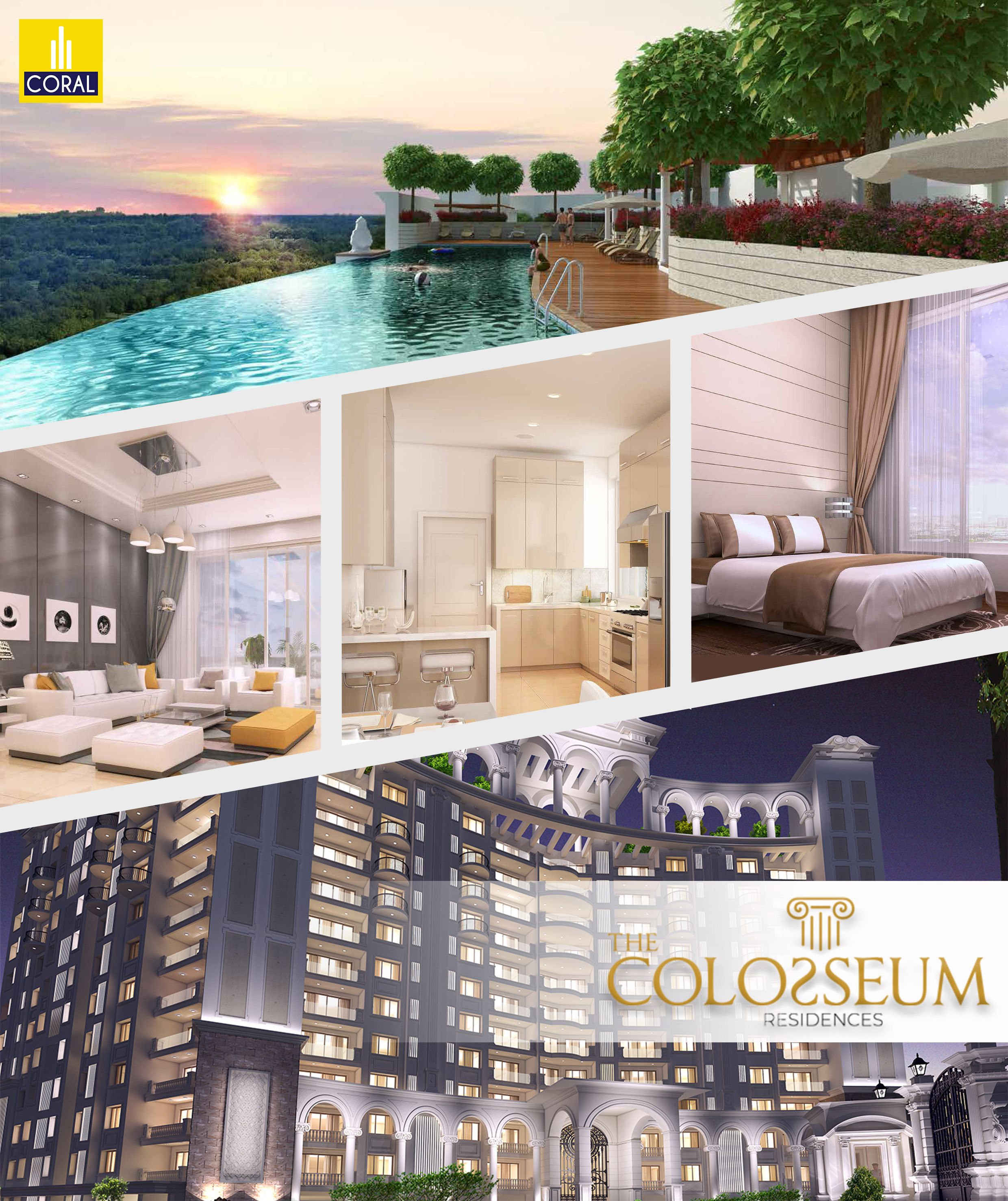The Colosseum Residences Elegant 2 3 Bed Apartments For Sale Apartments For Sale Residences House Styles