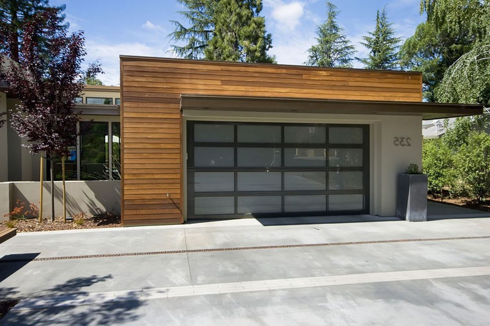 Parker Garage Doors Contemporary Garage And Concrete Paving