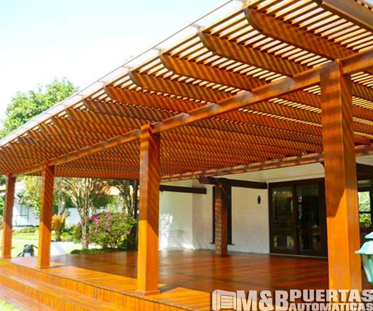 Techos De Madera Sol Y Sombra M B Puertas Automa Ticas Building A Pergola Pergola Patio