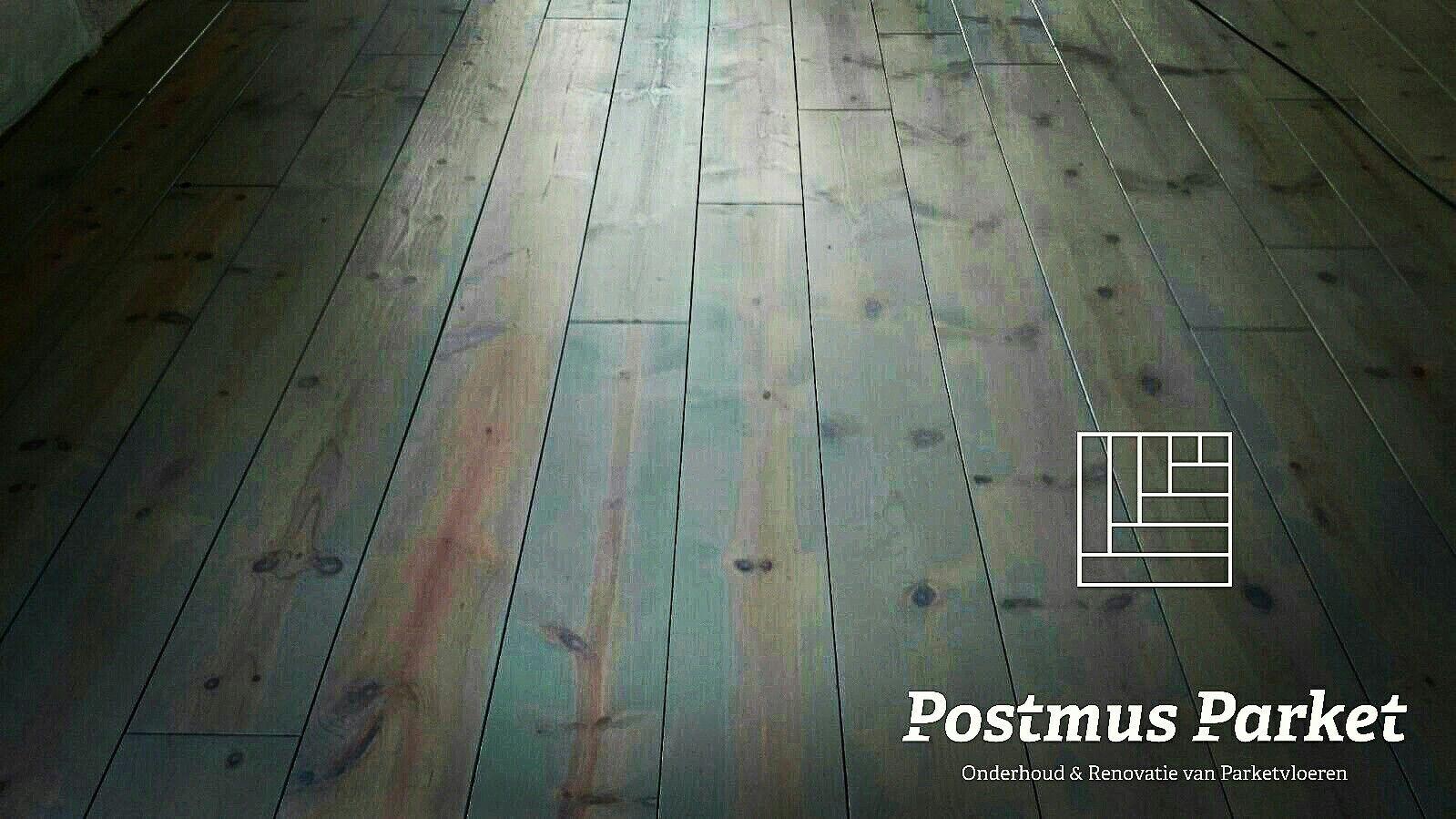 Grenen vloer geschuurd afgewerkt met bona craftolie kleur ash